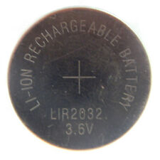 New LIR2032 CR2032 2032 3.6V Li-Ion Lithium Rechargeable Coin Button Battery