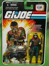 G I GI JOE 25TH ANNIVERSARY K-9 OFFICER DOG HANDLER MUTT & JUNKYARD FIGURE MOC