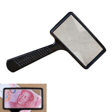 Magnifying REAL GLASS10X Magnifier handheld rectangular read coin stamp Large TO