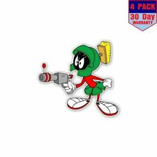 Marvin The Martian With Gun 4 Stickers 4X4 Inch Sticker Decal
