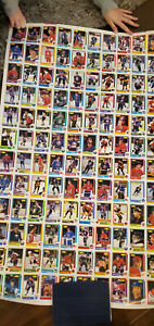 1986-87 OPC UNCUT HOCKEY CARD BLANK BACK PROOF SHEET OF 132 GRETZKY MESSIER