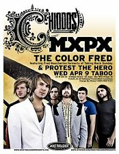 CHIODOS and MXPX 2008 Gig POSTER Eugene Oregon Concert