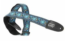 Levy's Guitar Strap JIMI HENDRIX Peacock Blue Black Woven Tapestry Levys M8HT-04