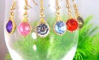 Classic hanging crystal earrings multiple choices