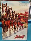 2008  Anheuser Busch  AB  Budweiser Holiday Christmas Beer Stein Clydesdales NIB