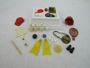 VTG 60s Barbie Ken Tammy Pepper Sports Accessories Tennis Bowling Canteen Balls