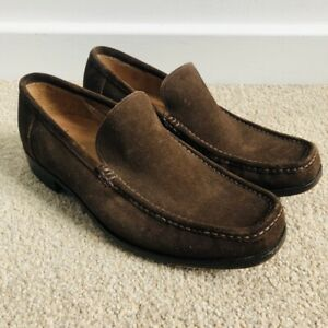 LOAKE Treviso Mens Tan/Brown Suede Leather Moccasins Slip On Summer Shoes UK 7G