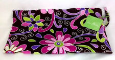 Vera Bradley Purple Punch Ditty Bag Gym Pool Lunch New Drawstring Black Pink