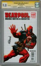 DEADPOOL MERC WITH A MOUTH #1 VARIANT CGC 9.8 SIGNATURE SERIES SIGNED MCGUINNESS