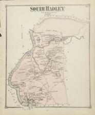 Antique Map South Hadley, MA - FW Beers Atlas of Hampshire Co MA 1873