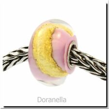 Authentic Trollbeads Glass 62016 Pink Gold :0