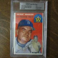 1954 Topps Vault File Copy HEINIE MANUSH 187 TIGERS HOF MLB Card BVG COA Rare
