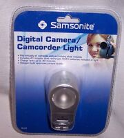 NEW IN PACKAGE DIGITAL CAMERA & CAMCORDER LIGHT W AC ADAPTER & 2 BATTERIES