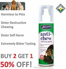 Johnsons Anti Masticare per Cani Cuccioli addestramento SPRAY 150ml gusto estremamente AMARO