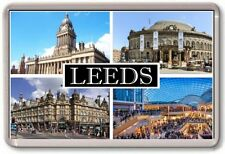 FRIDGE MAGNET - LEEDS - Large - Yorkshire TOURIST
