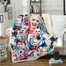 Suicide Squad Harley Quinn 3D Sherpa Blanket Warm Soft Sofa Bed Throw Fleece