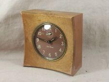 Mid Century Seth Thomas Alarm Clock Wood Case Vintage Bedroom Decor