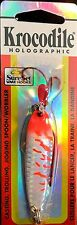 Luhr-Jensen Holographic Krocodile 1/2 oz Flo Orange Reflex SureSet Fishing Lure