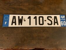 Customize a matching PAIR of French license plate s Classic or EURO style France