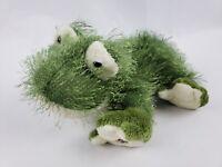 """Ganz Webkinz Frog 8"""" Plush Fuzzy Long Hair Green Stuffed Animal NO CODE"""