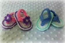 Baby Girl/Boy Thongs (Flip Flops) Crochet Pattern