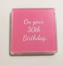 30th BIRTHDAY LUCKY SIXPENCE -MUM SISTER DAUGHTER SMALL GIFT PINK & Organza bag