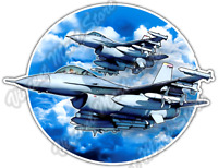 """F-16 Fighter Air Force Military US Army Jet Car Bumper Vinyl Sticker Decal 5""""X4"""""""