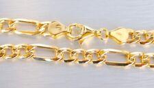 Gold 585 Armband Gelbgold schönes Figaro 14Kt Goldarmband Figaroarmband & Etui