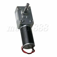 Reversible Electric Worm Gear Motor 8mm Shaft DC 12V 80rpm with Cable