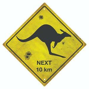 KANGAROO ROAD SIGN  AUSTRALIAN SOUVENIR KANGAROO SIGN
