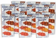 Nutra Care Wash N Tint Temp Highlighting Color Shampoo Brown Red Blonde Lot 12