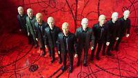 Doctor Who Action Figure Auton  Bundle Job Lot inc Black Shirt Grey Auton
