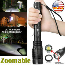Tactical 350000LM Zoomable Police LED T6 High Power Flashlight 1865**0 Torch USA