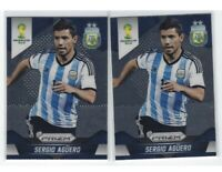 2014 Panini Prizm World Cup (2) Sergio AGUERO 1st Prizm Base Lot. Argentina RC