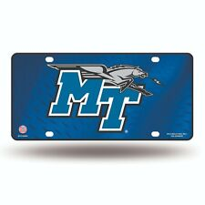 Middle Tennessee Blue Raiders Metal License Plate.  #911