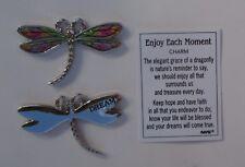c dream Enjoy Each Moment Dragonfly Pocket token charm Ganz dream come true