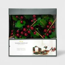 Threshold Unscented Vase Filler Red Berry Holly Leaf * Red Green Christmas * NEW