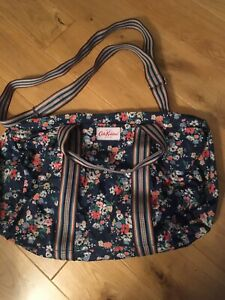 Cath Kidston Navy Floral Print Foldaway Shopper Overnight Weekend Holdall Bag