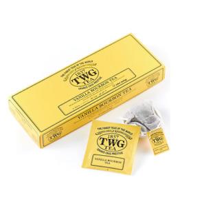 TWG Tea from Singapore - VANILLA BOURBON - 15 Cotton Tea Bag / Sachets - настой