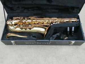 USED Buffet Crampon Evette TENOR saxophone, case, new Music Medic pads, Rico MP