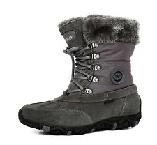 Allrounder Lace Up Leather Boot Grey Women Sz 8 5889 *