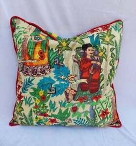 Indian Frida Khalo Home Décor Piping Cushion Cover Sofa Pillow Case Covers 20x20