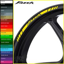 YAMAHA FAZER Wheel Rim Stickers Decals - 20 Colors - 600 800 1000 fz1 fz6 fz8