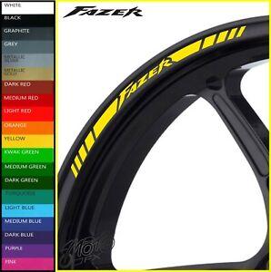 YAMAHA FAZER Wheel Rim Stickers Decals - 20 Colors - 600 800 1000 fz1 fz6 fz8