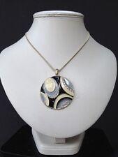 Wedding Prom Jewellery punk gothic black grey Design Circle   Pendant Necklace