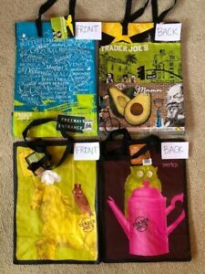 NWT! 4 Trader Joe's Los Angeles Reusable ECO Shopping Bags Shopping Grocery