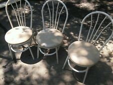 000 Metal Plyfold Cafe Restaurant Chairs Padded Round Seat