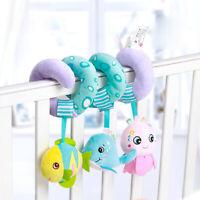 Baby Hanging Rattle Toy Newborn Crib Spiral Plush Sensory Car Seat Stroller Toy