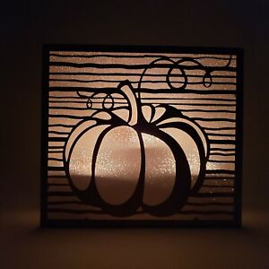 Yankee Candle Pumpkin Tea Light Candle Holder Holds 3 Fall Copper Burnished