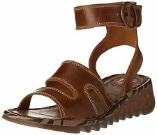 Fly London TILY722FLY Ladies Strappy Gladiator Style Leather Wedge Sandals